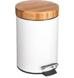 5Five - White Pedal bin - 3 Liter - White