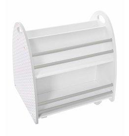 Atmosphera Atmosphera - Low bookcase for children - on wheels - white/grey