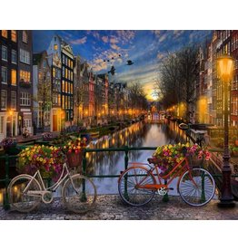 Painting on Nummer - Amsterdam Canals
