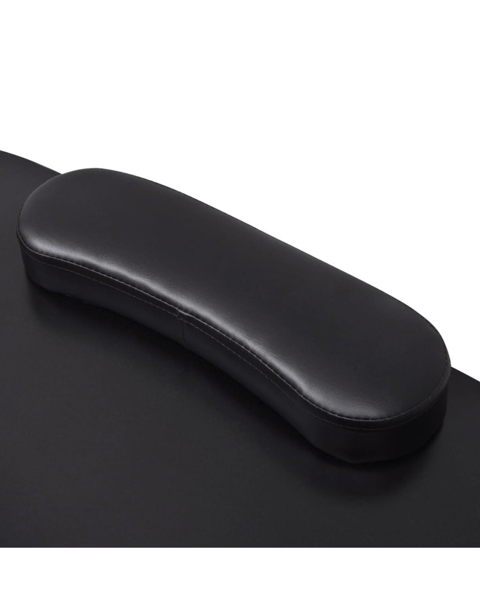 Manicuretafel inklapbaar met wieltjes zwart