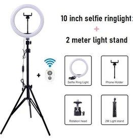 Ringlight Lamp met Statief 70-200 cm