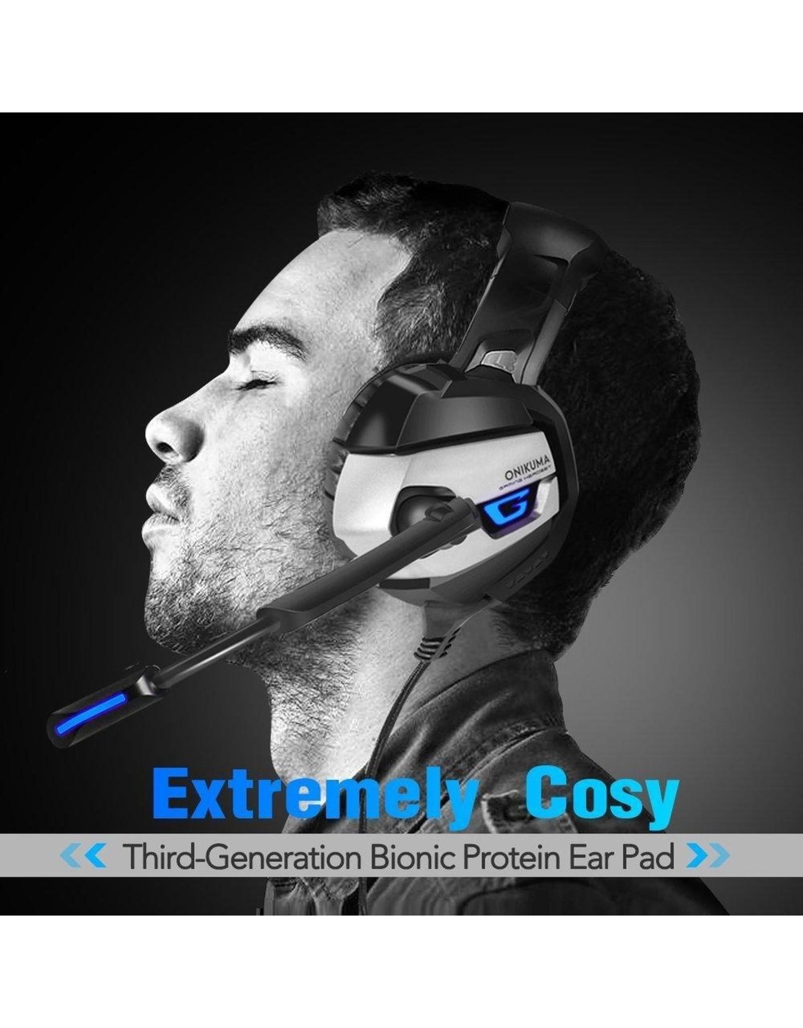 Onikuma K5 -Gaming headset - Grijs
