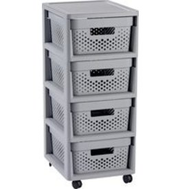 Curver Infinity - Cabinet - On wheels - 4 drawers