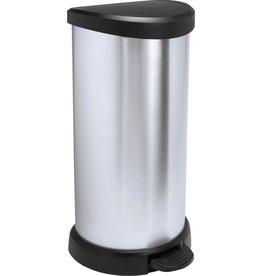 Curver Decobin Trash - Pedal bin - 40l - Silver Metallic