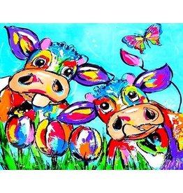 Parya Official Parya Official -Schilderen op nummer - Gekleurde koeien