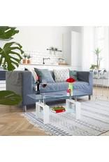 Parya Home Parya Home - Glazen Salontafel - Wit