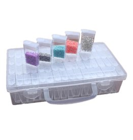 Parya Official Parya Official - Storage box with 64 compartments - Diamond Painting - Incl. Sticker sheet