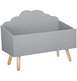 Atmosphera Speelgoedkist - wolkenvorm - kleur grijs
