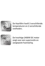SODY SODY - SD3003 - Haarföhn - 2 snelheden -Zwart