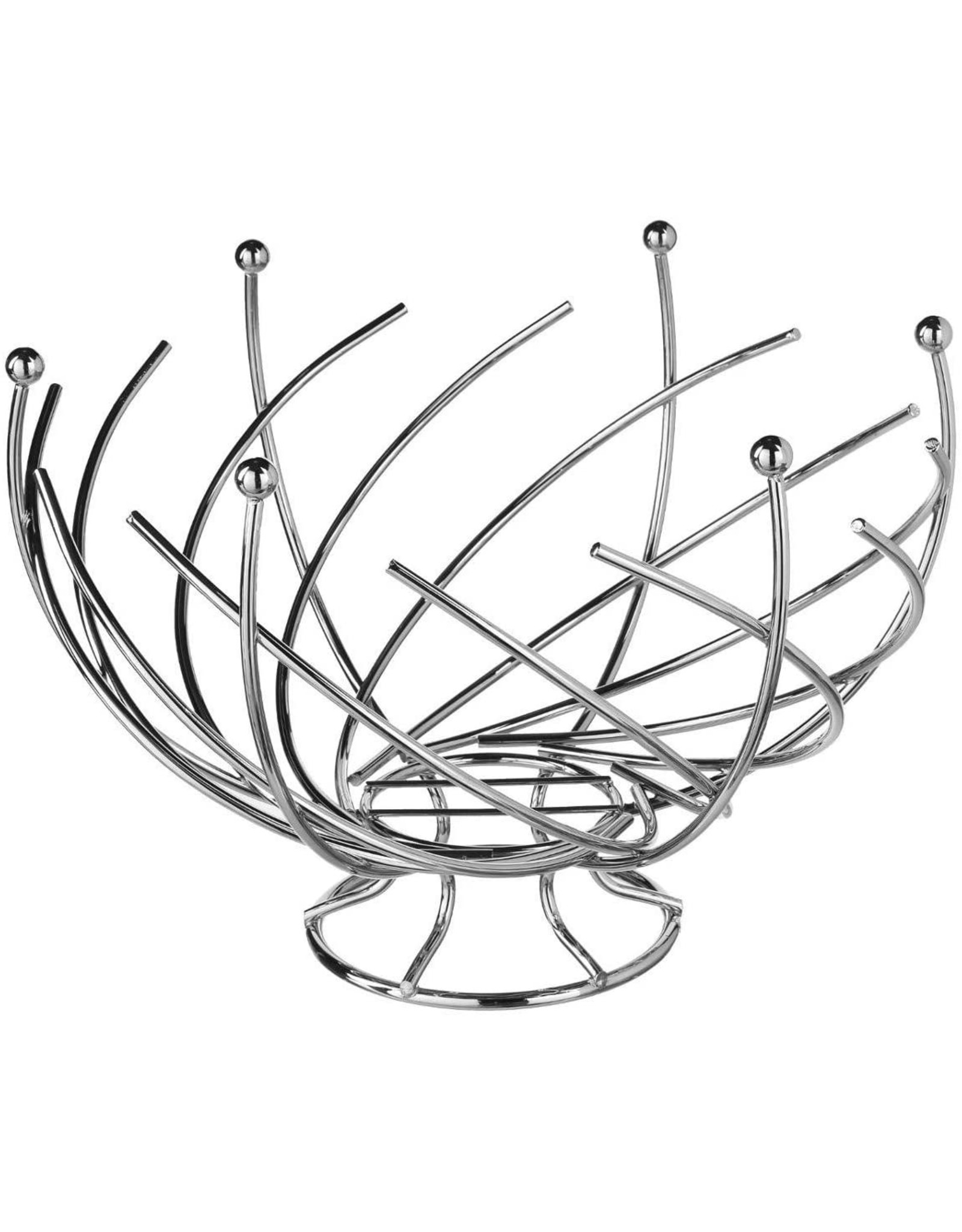 Atmosphera Atmosphera - Spiraalvormige Fruitschaal - Roestvrij Staal - 30 x 21,5 cm