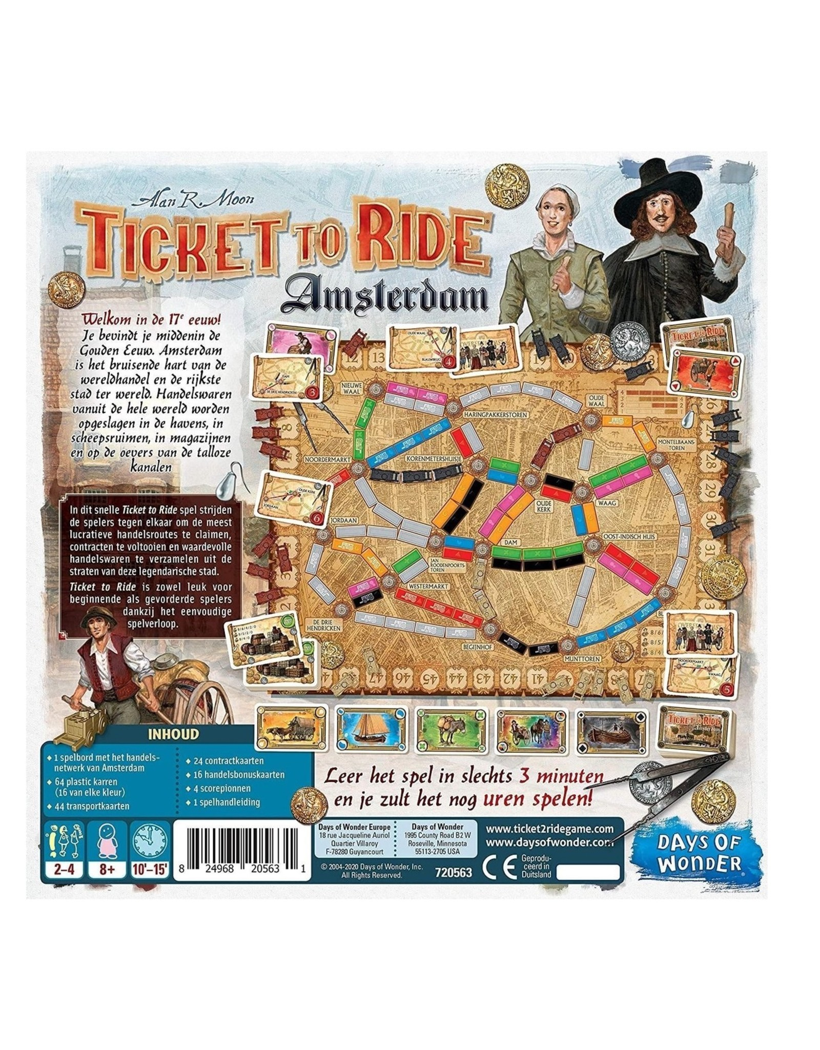 Ticket to Ride Ticket to Ride - Amsterdam - Bordspel - Nederlandstalige Editie