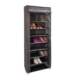 Haushalt - Hi - Folding shoe rack - 9 layers - Brown