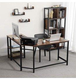 Parya Home - Corner desk - Brown