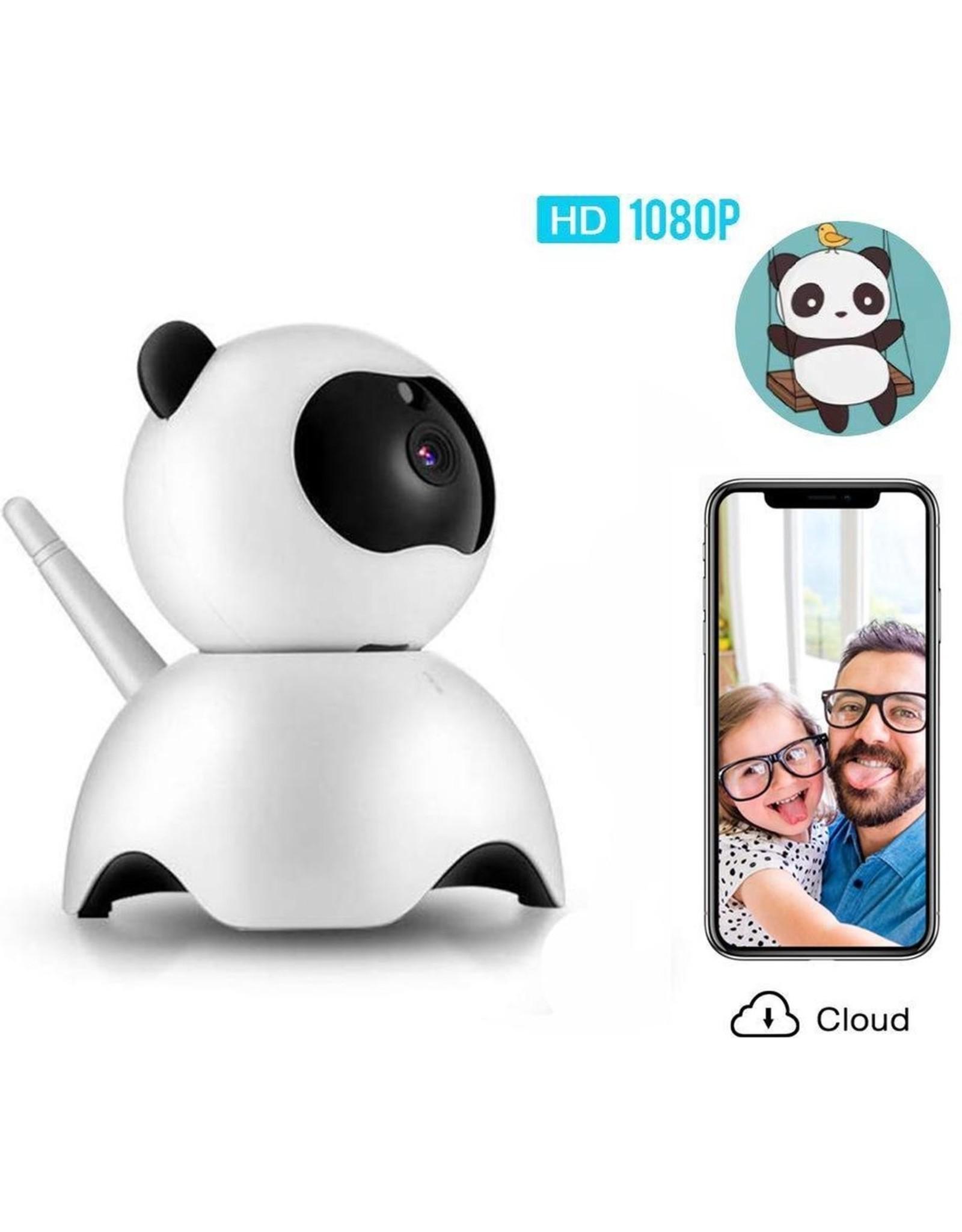 Panda Babyfoon 1080P FHD WiFi IP Beveiligingscamera -Video Babyfoon