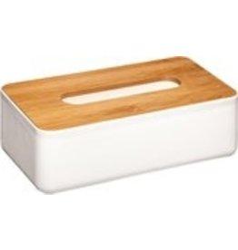 Tissuedoos Bamboe - Wit - Voor alle maten tissues - Natuurlijk bamboe