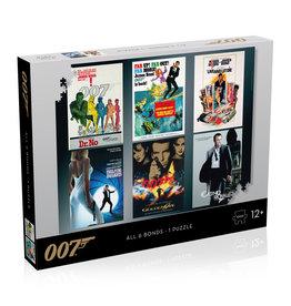 James Bond Puzzle - 1000 pieces - Actors Debut Poster
