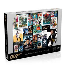 Winning Moves - James Bond Puzzel - 1000 stukjes - Alle filmposter - EV