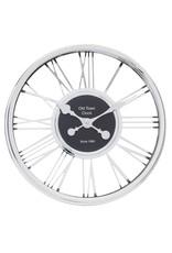 Atmosphera Atmosphera - Silver wall clock - Roman Numerals - Diameter Ø44