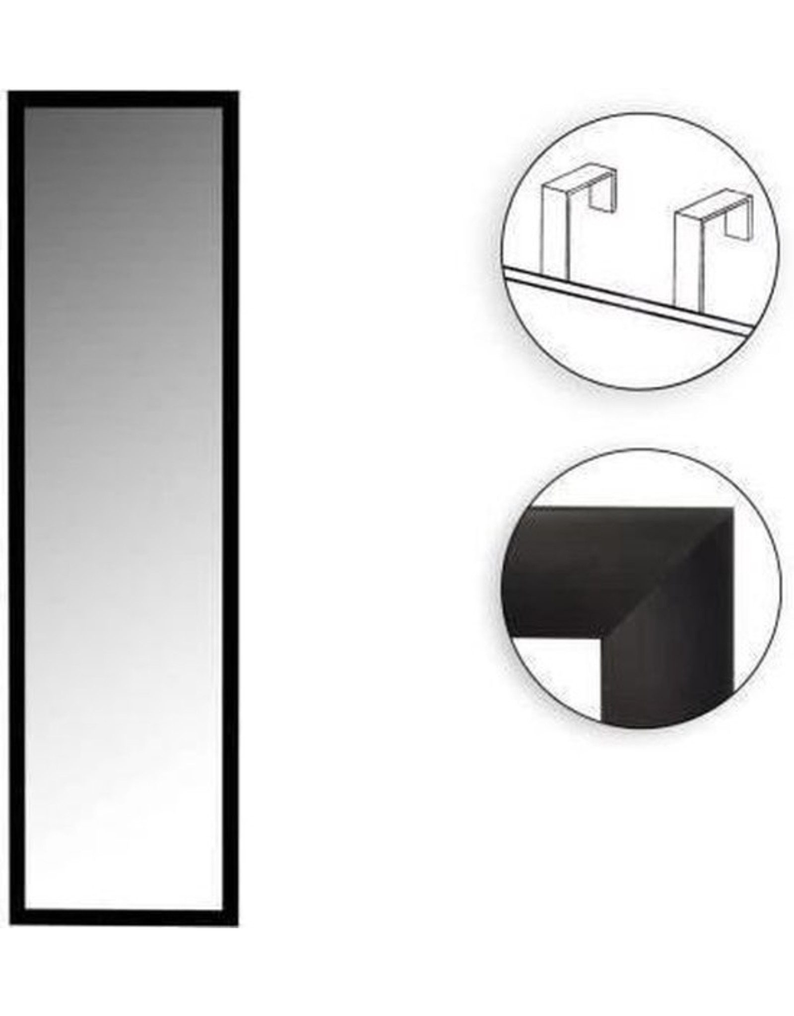 Atmosphera Atmosphera - Deurspiegel - Met zwarte frame - 110x36cm
