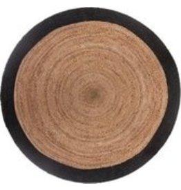 Atmosphera - Round rug - Jute - Natural with black border