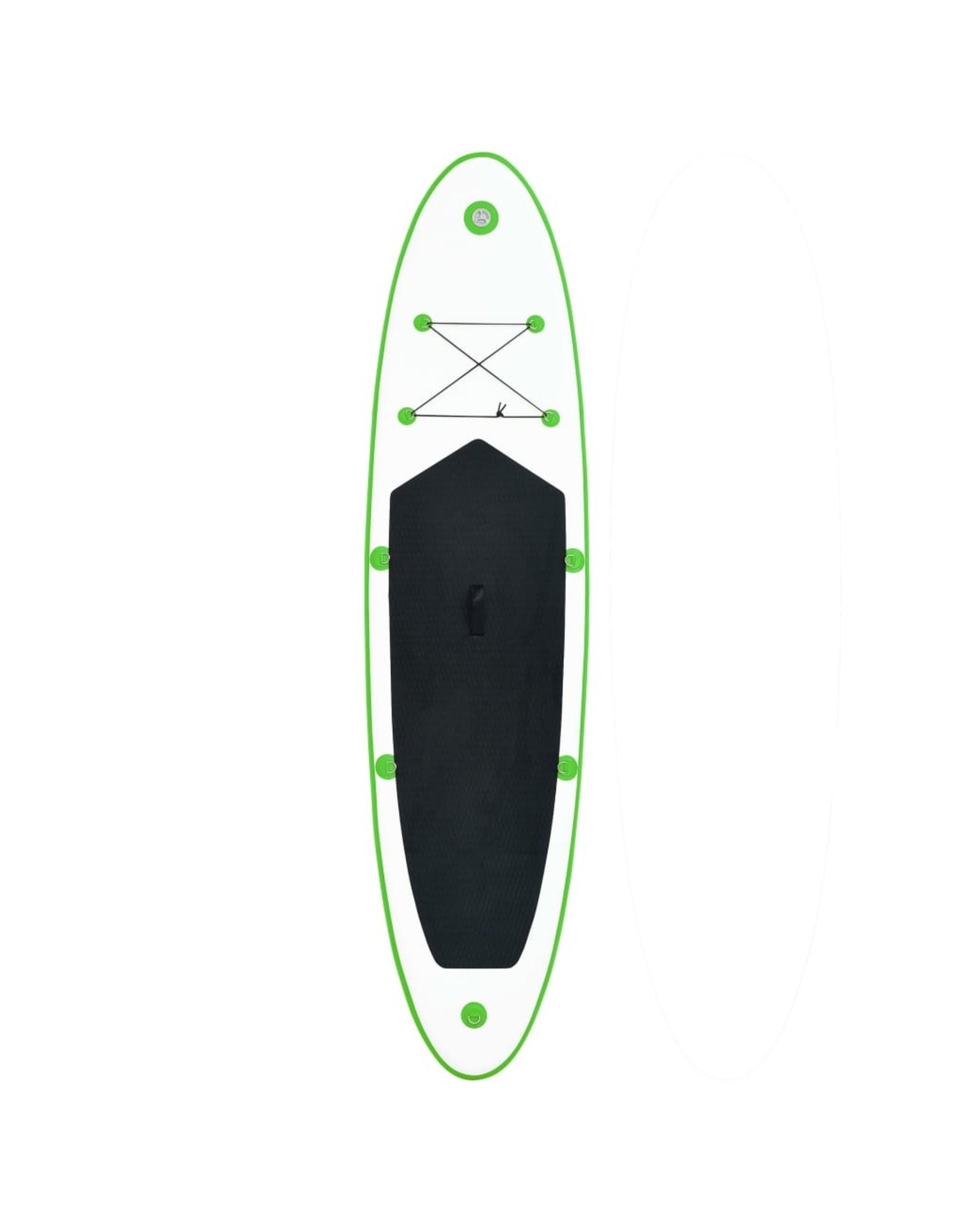 Stand Up Paddleboardset opblaasbaar groen en wit
