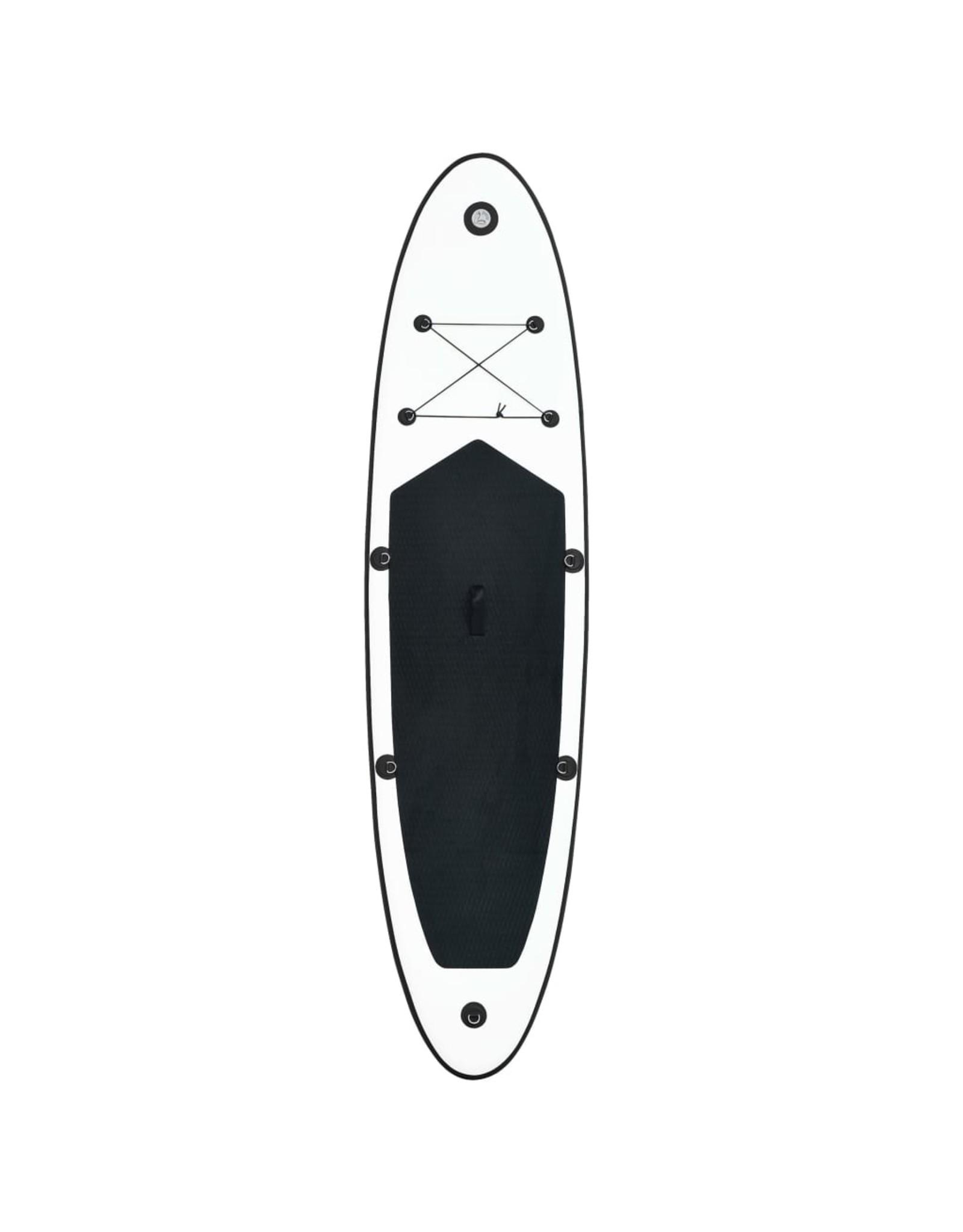 Stand-up paddleboard opblaasbaar zwart en wit