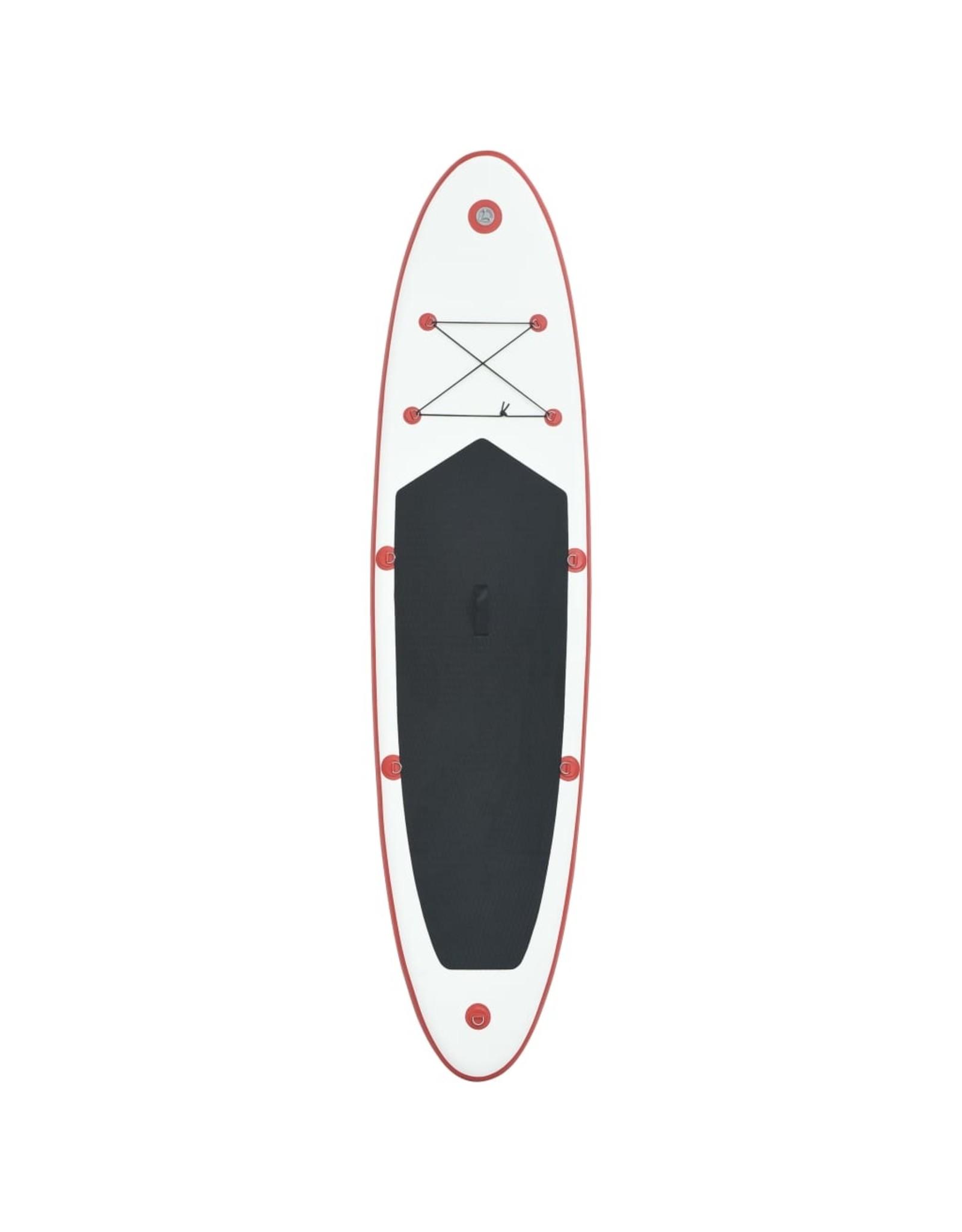 Stand Up Paddleboardset opblaasbaar rood en wit