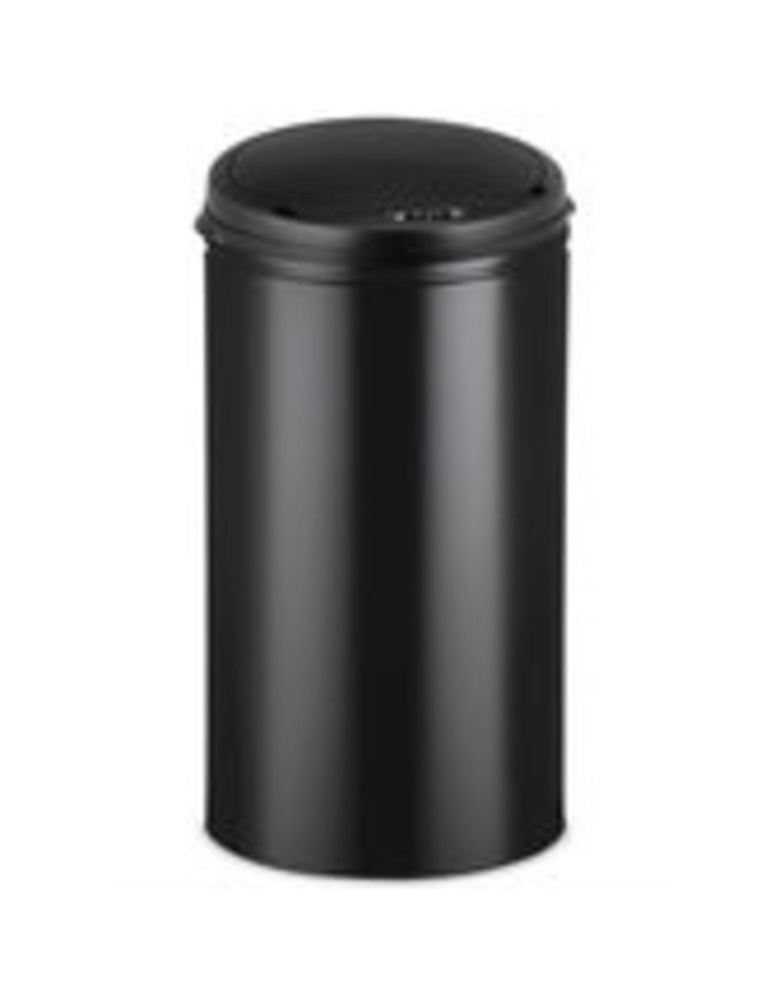 Deuba Prullenbak met sensor RVS zwart 40 liter