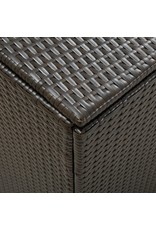 Tuinbox 180x90x75 cm poly rattan bruin
