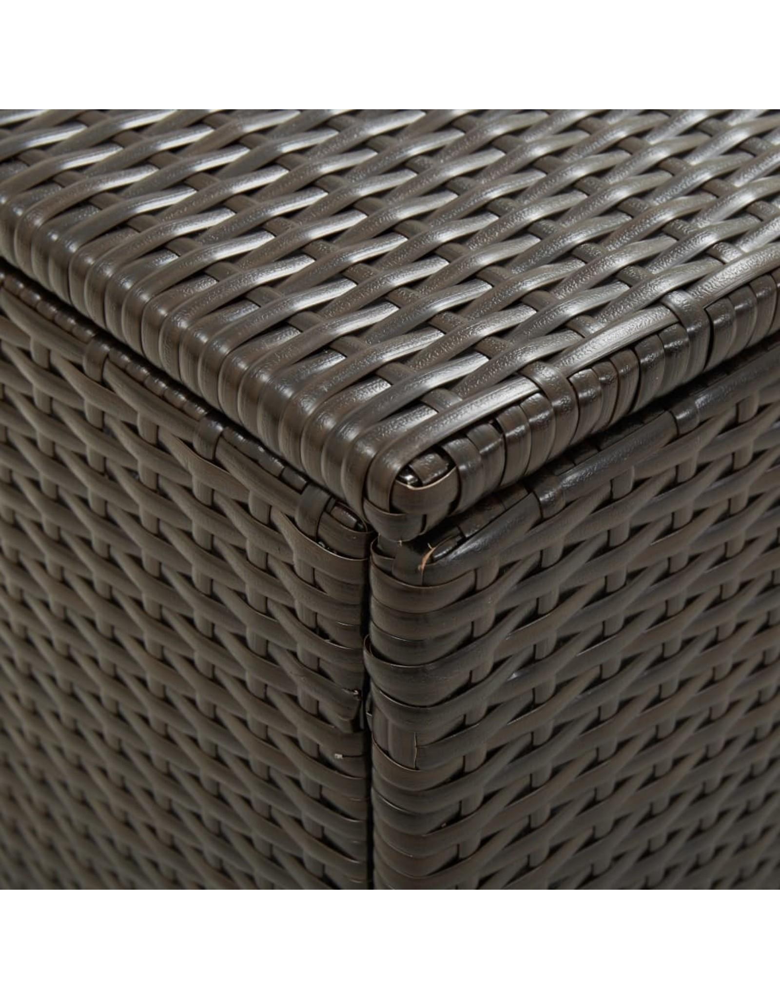 Tuinbox 200x50x60 cm poly rattan bruin
