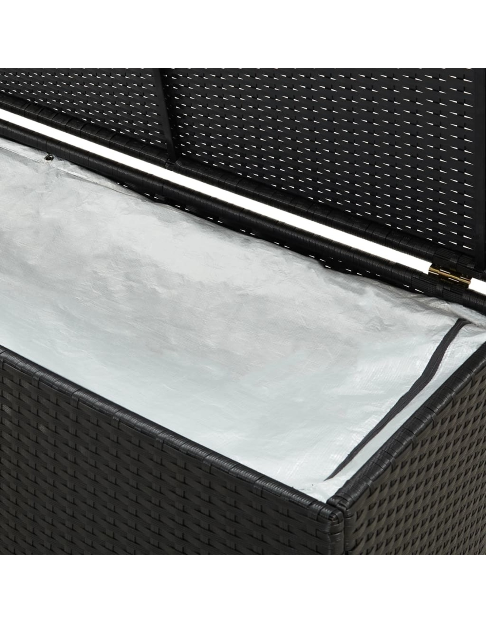 Tuinbox 200x50x60 cm poly rattan zwart