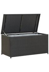 Tuinbox 100x50x50 cm poly rattan zwart