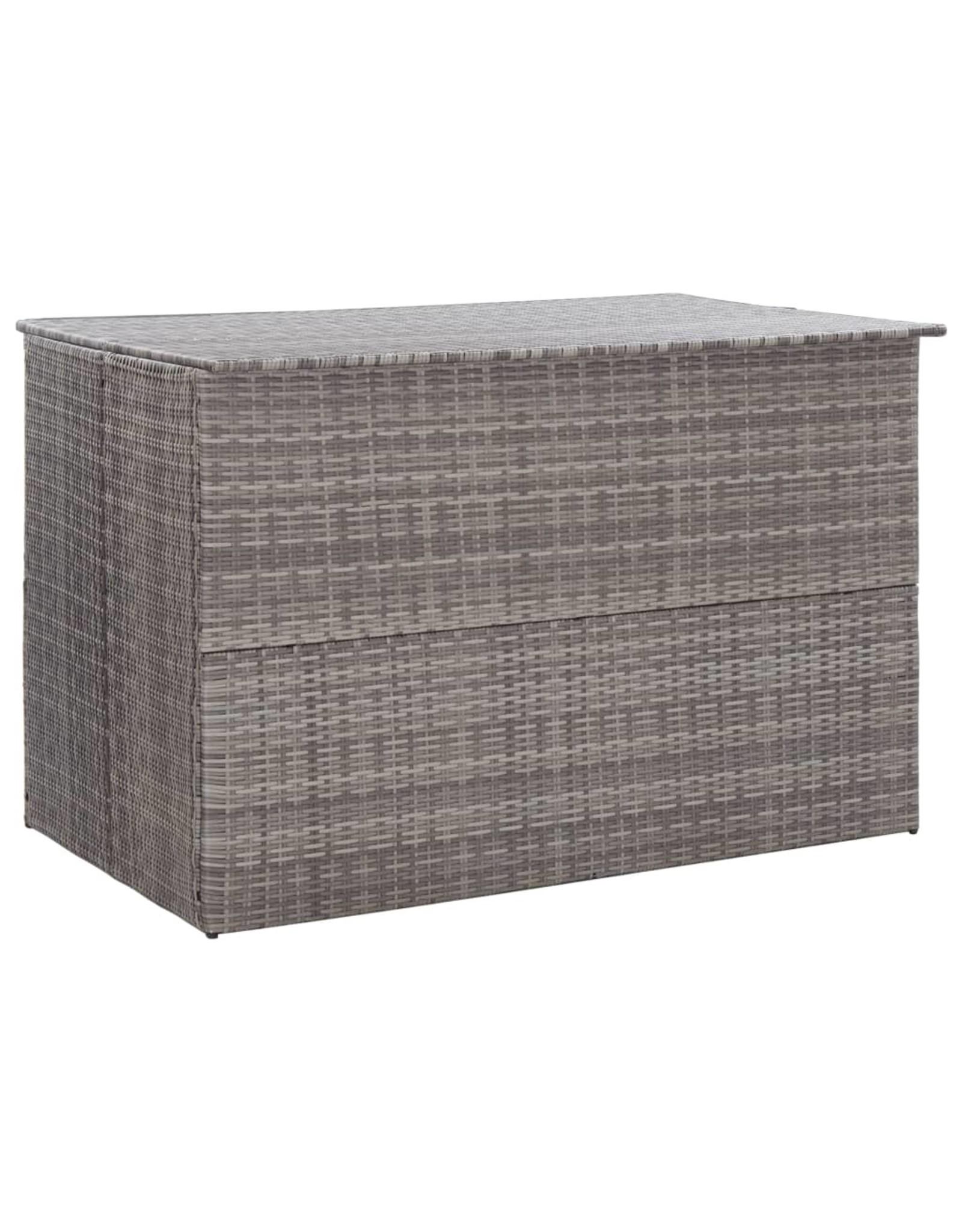 Tuinbox 150x100x100 cm poly rattan grijs