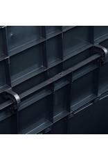 Opbergkist 320 L zwart