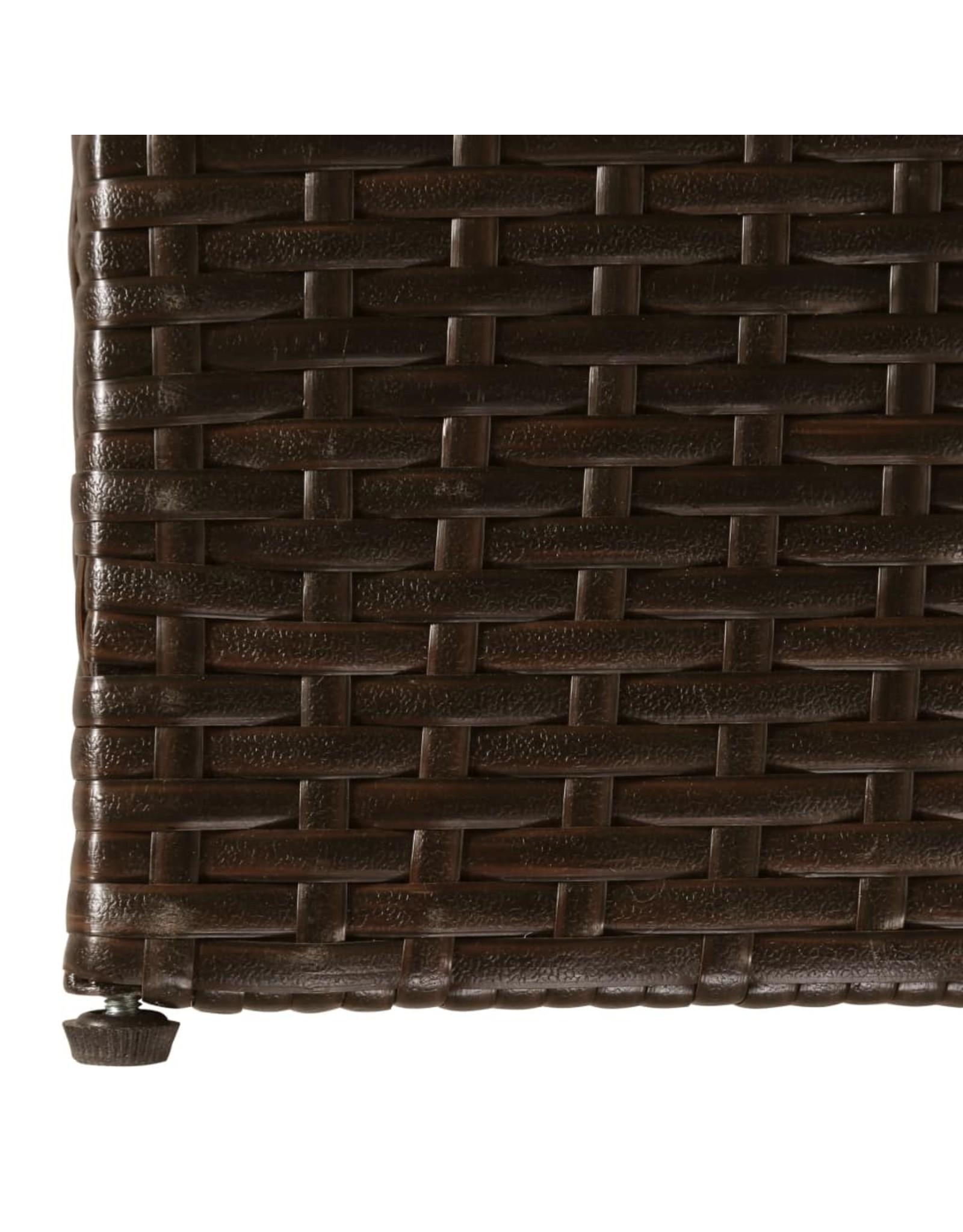 Tuinbox 150x100x100 cm poly rattan bruin