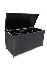 Tuinbox 150x50x60 cm poly rattan zwart