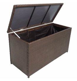 Tuinbox 120x50x60 cm poly rattan bruin