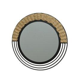 Parya Home Parya Home - Round Iron Mirror - Black