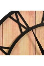 Wandklok 39 cm MDF en ijzer bruin en zwart