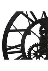 Wandklok 30 cm acryl zwart