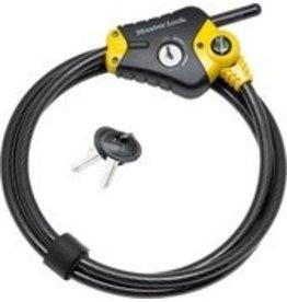 MasterLock Masterlock Python - Cable lock - 180cm x 10mm - 4 keys