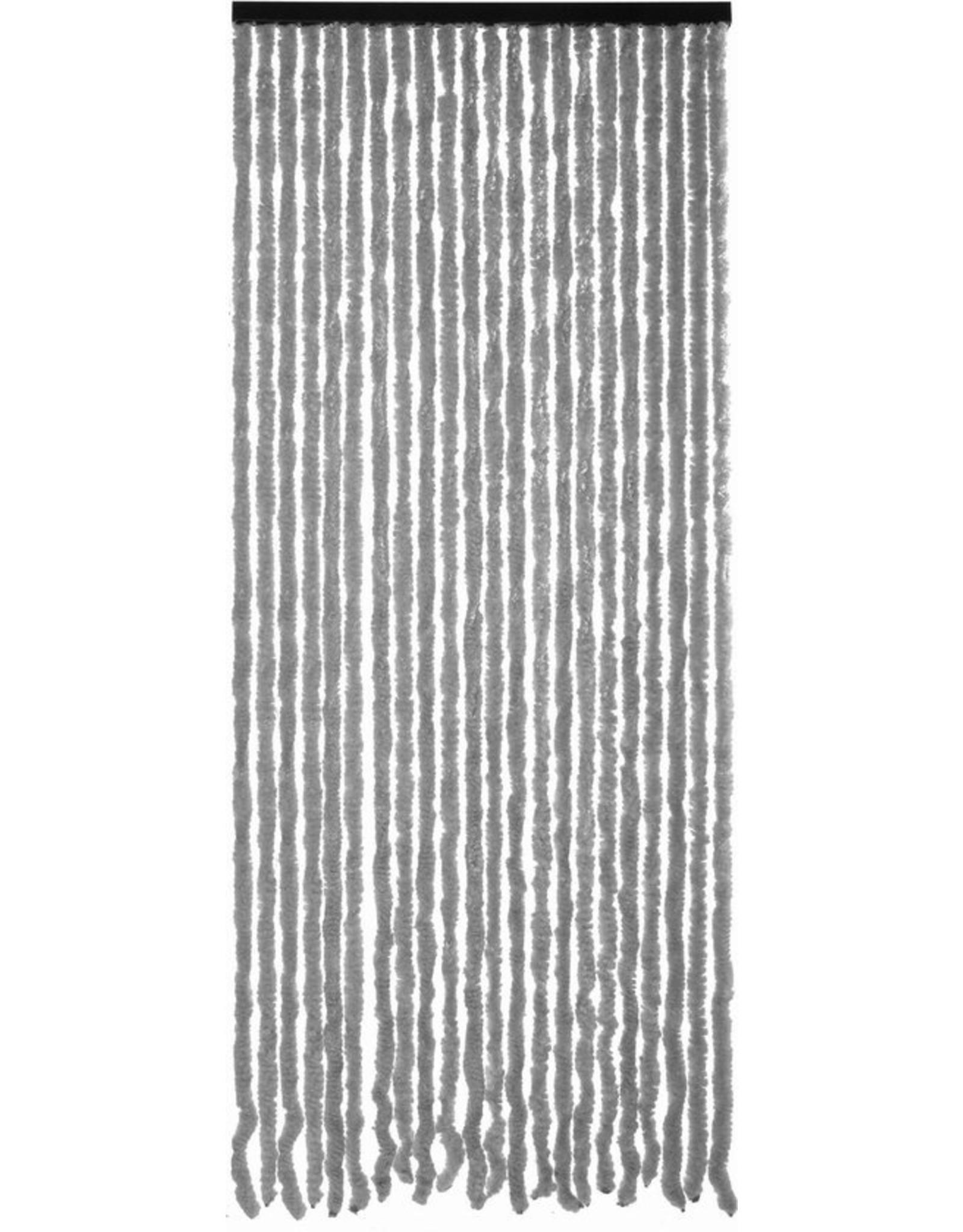 Cortenda kattenstaart vliegengordijn - grijs/wit gemeleerd - 90x220cm