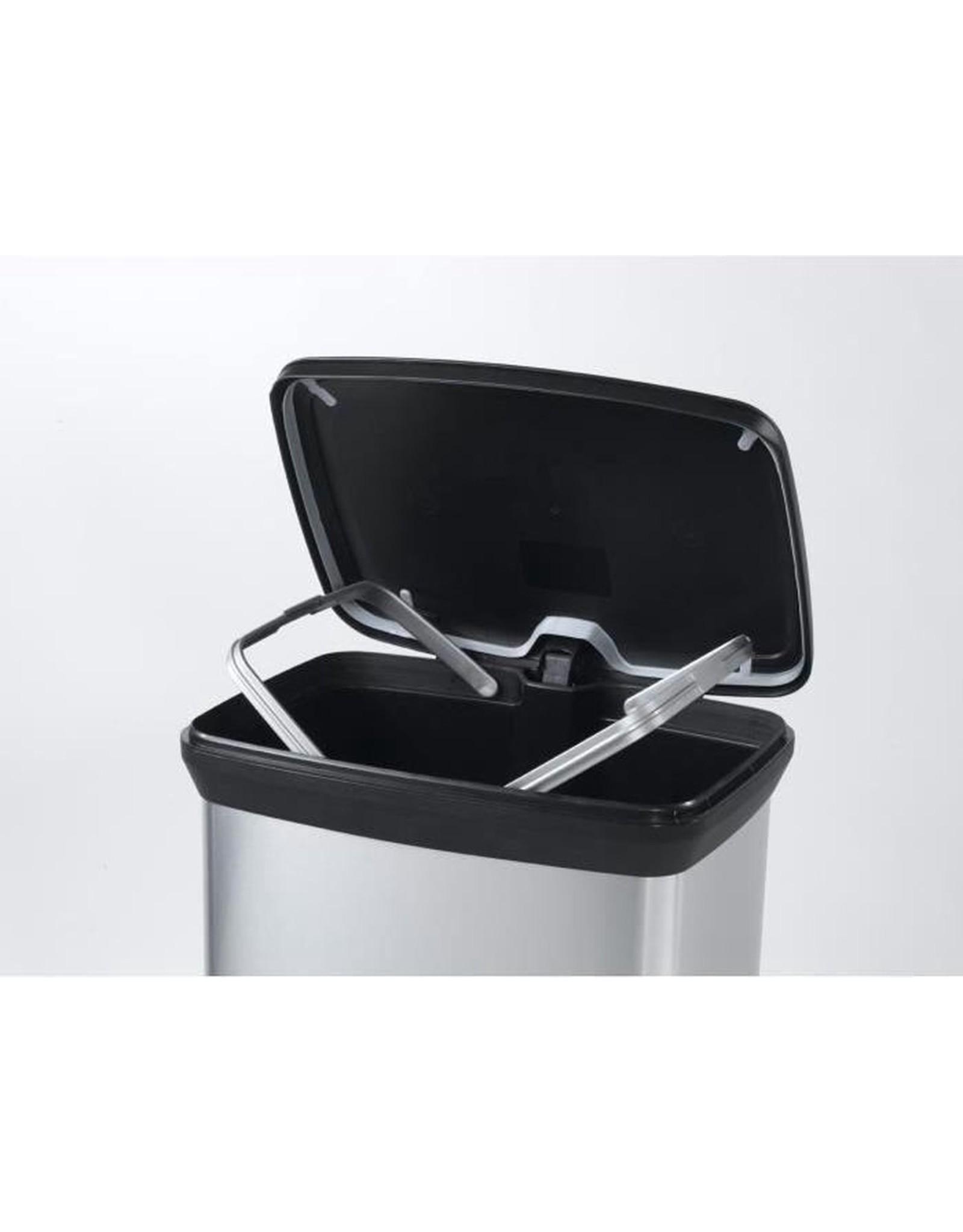 Curver - Decobin Pedaalemmer - Prullenbak - 50 liter - Metallic