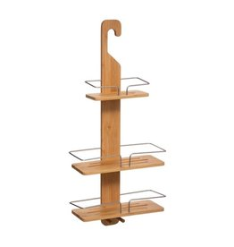 Five® - Wooden shower rack - Bamboo - Without drilling