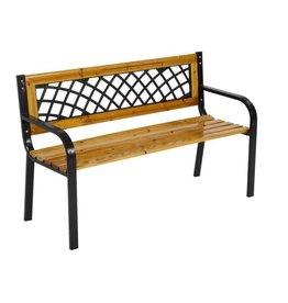 Lesliliving - Garden bench York - Metal & Wood