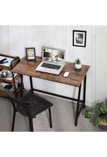 Vintage Bureau - Tekentafel - Industrieel - Hout - Zwart