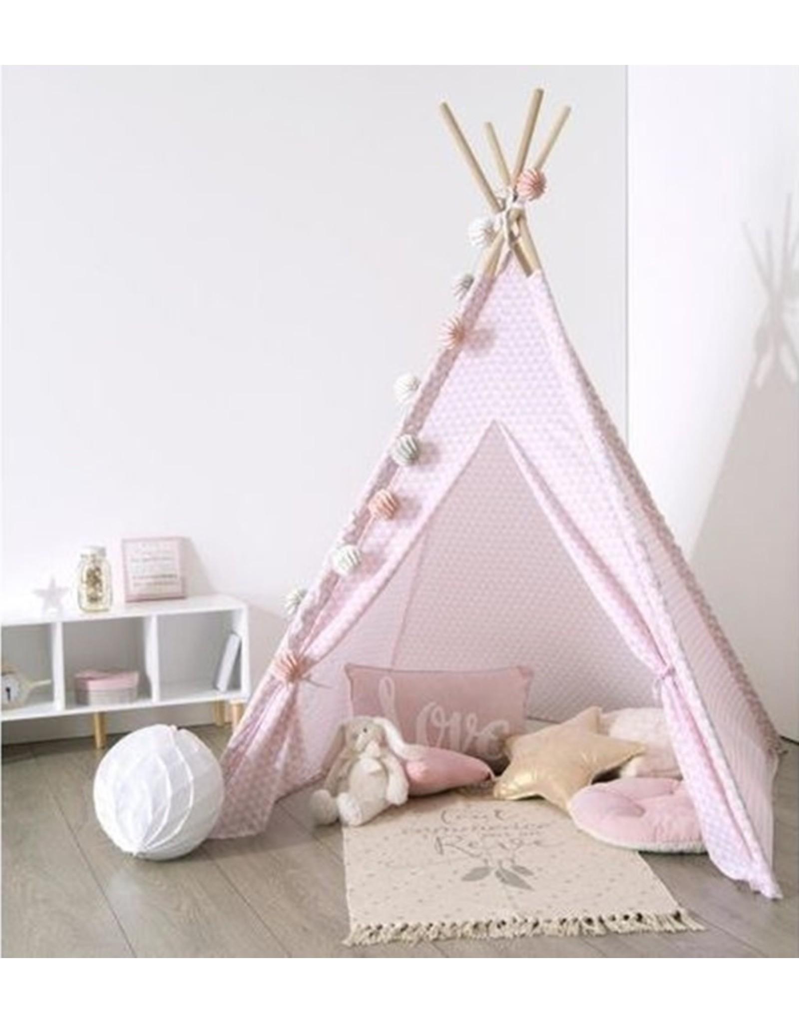 Atmosphera Atmosphera - Kinder Tipi-Tent - Polyester - Speeltent - Roze