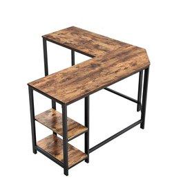 Parya Home - Corner desk - L-shaped - Wood - Brown