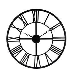 Atmosphera Atmosphera - Large Metal Wall Clock - Industrial - Black