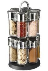 Secret de Gourmet - Roterend kruidenrek met 12 glazen potten